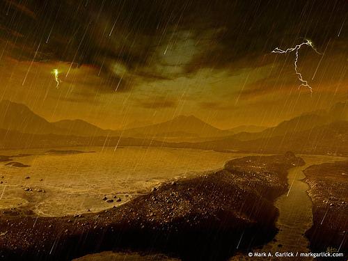 Lluvia en Titán.