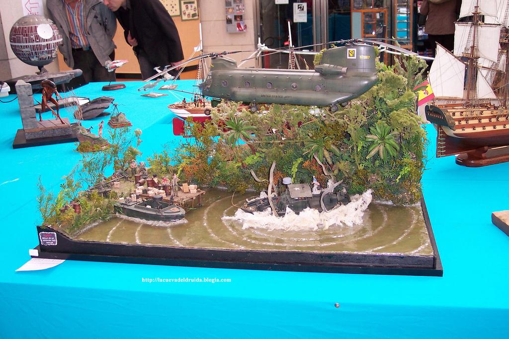 Diorama militar.