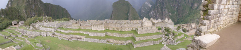 Panorámica de Machu Pichu.