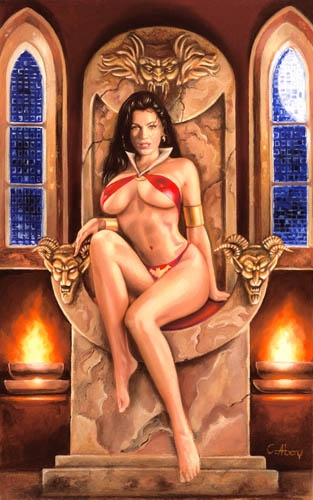 Vampirella y su Trono.